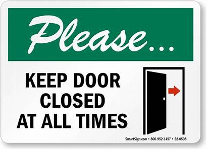 Closed Keep Door Please Times Locked S2