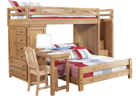 full over desk bunk bed creekside taffy twin full step bunk bed with desk and