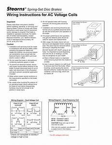 Wiring Instructions For Ac Voltage Coils