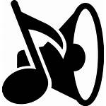 Icon Note Musical Speaker Symbols Icons Svg