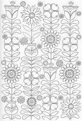 Coloring Pages Scandinavian Colouring Folk Adult Pg Embroidery Adults Books Patterns Para Pattern Drawing Sheets Bordado Colorear Mandalas Drawings Von sketch template