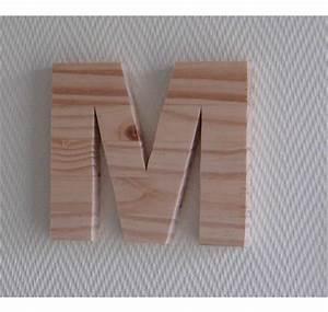 Lettre En Bois A Poser : lettre en bois 25 cm ~ Teatrodelosmanantiales.com Idées de Décoration