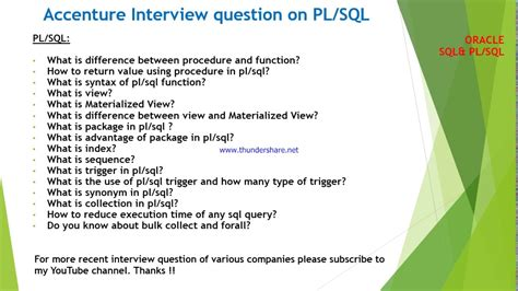 Marketing Analyst Questions by Accenture Questions And Answers On Plsql