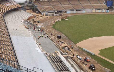 dodgers stadium renovation largo concrete