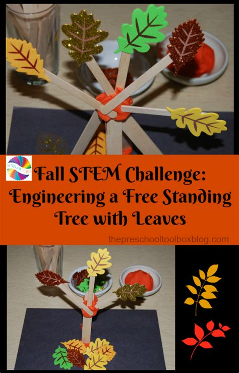 fall steam challenge engineering  standing trees