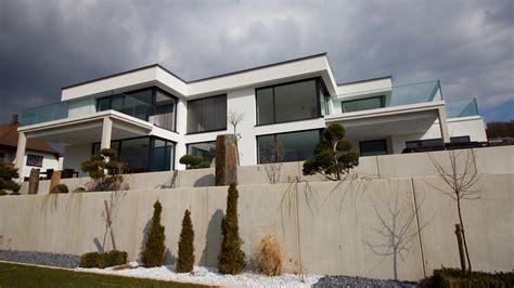 Moderne Puristische Häuser by Neubau Moderne Flachdachvilla In Wei 223 Enburg Hochplan
