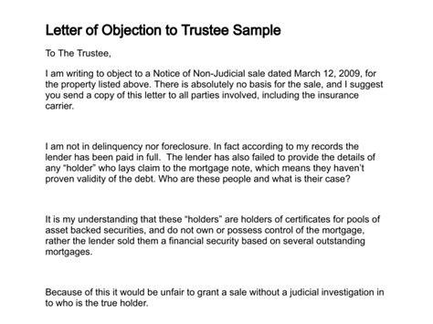 letter  objection