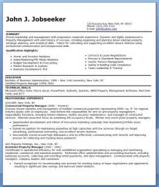 property management resumes free commercial property manager resume templates resume downloads