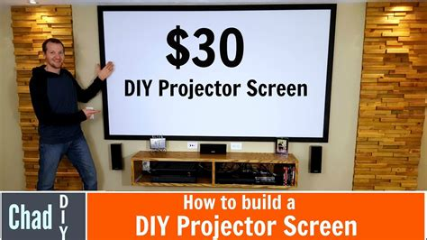 build   projector screen youtube