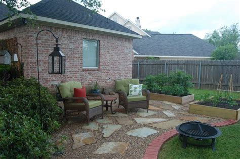 pea gravel patio designs pea gravel patios here s a patio made of large flat s