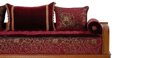 tissu pour canapé marocain tissus de salon marocain ée 2016 déco salon marocain