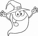 Halloween Colorare Disegni Fantasmi Ghost Coloring Cartoon Scary sketch template