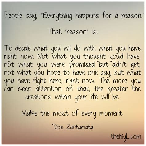 Quotes About Everything Happens For A Reason Quotesgram