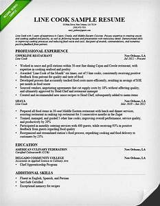 Cook resume template resume builder for Cook resume template