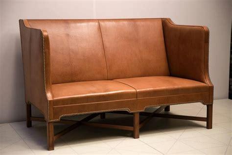 person sofa  nigerian goatskin  cuban mahogany legs  kaare klint  stdibs