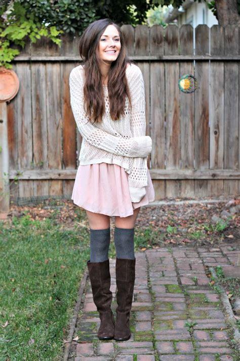 Long Coat Short Jeans Front Lace Boots and Dress - Womenitems.Com