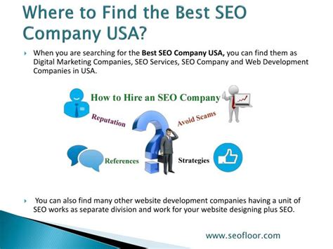 Seo Services Usa - ppt best seo company usa seofloor powerpoint