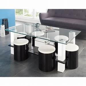 Table Basse Pouf Intégré : table basse avec pouffe achat vente pas cher ~ Dallasstarsshop.com Idées de Décoration