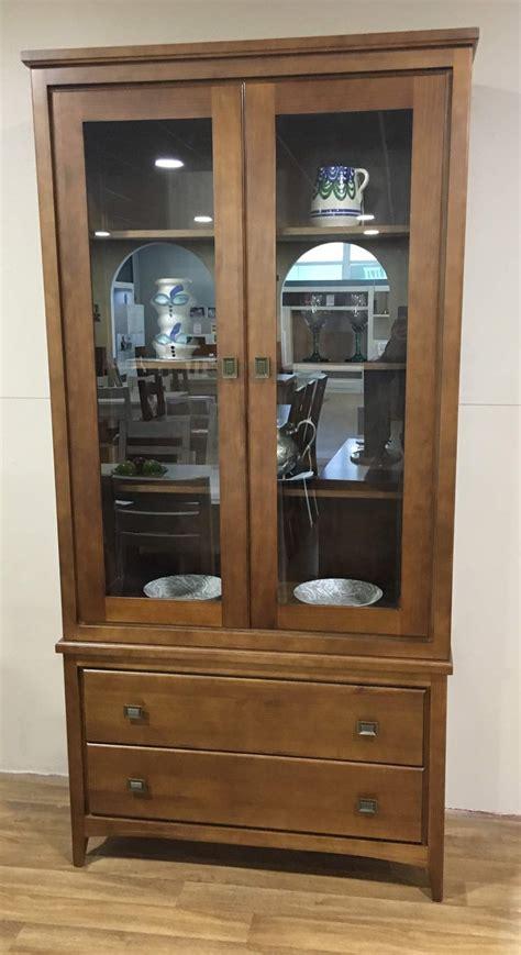 vitrina vajillero de salon comedor vintage en madera