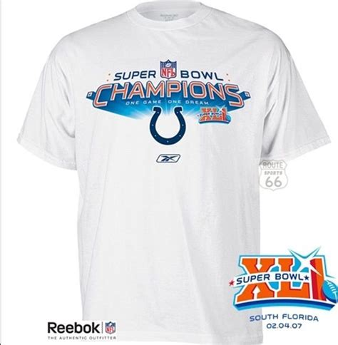 Indianapolis Colts Super Bowl Xli Champs Champions T Shirt