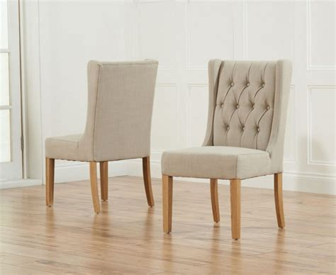 Furniture Classic Cream Leather Dining Room Chairs