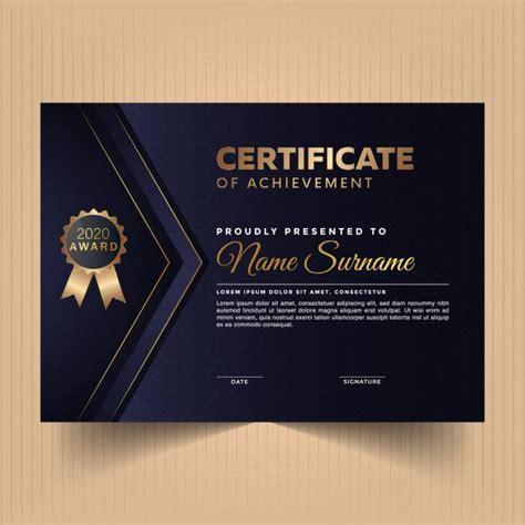 elegant award diploma certificate design template