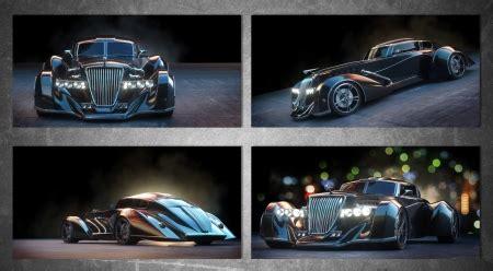 modern art deco concept car  cars background