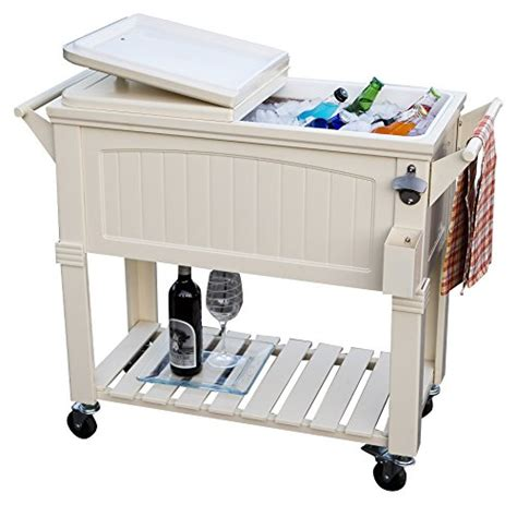patio cooler cart patio cooler cart insulated basin chest 80 qt mobile