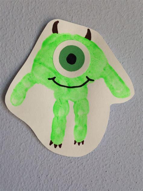 handprint mike wazowski craft handprint monsters inc 483 | 7c674af113b63f790c5d4579f94934bd