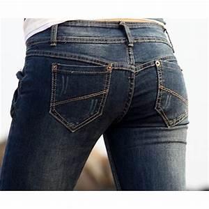 Jean Homme Taille Basse : jeans moulant slim pour femme avec taille basse bleu fonc ~ Melissatoandfro.com Idées de Décoration