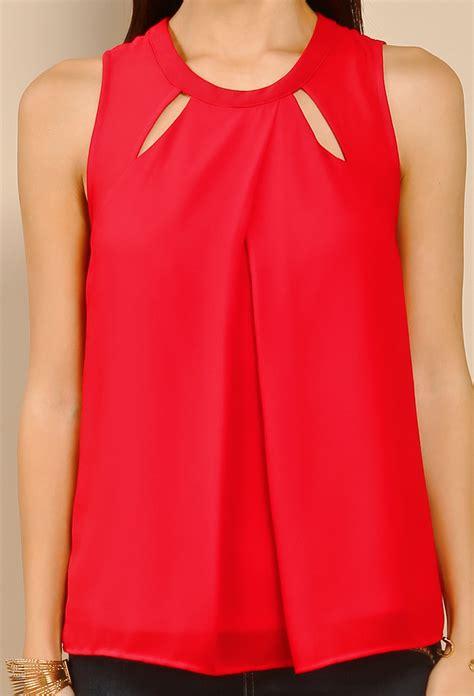 dressy blouse sleeveless chiffon dressy top shop dressy tops at papaya