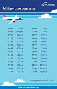 24 Hour Clock Chart Military Time Converter Flight Attendant Professional
