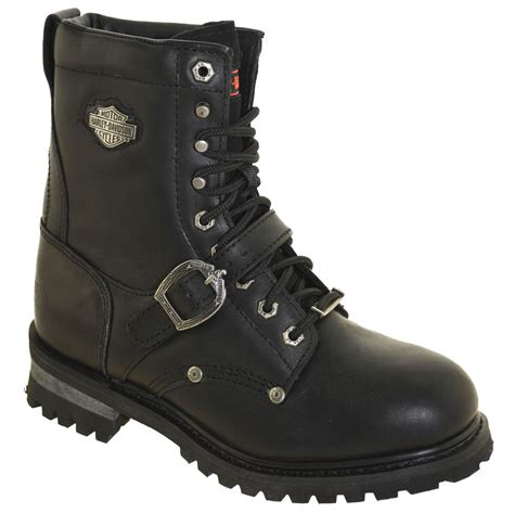 high top motorcycle boots harley davidson men 39 s faded glory boots 91003 black ebay