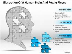 Business Powerpoint Templates Illustration Of Human Brain And Puzzle Pieces Sales Ppt Slides