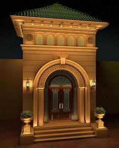 villa, classic, entrance, design, on, behance