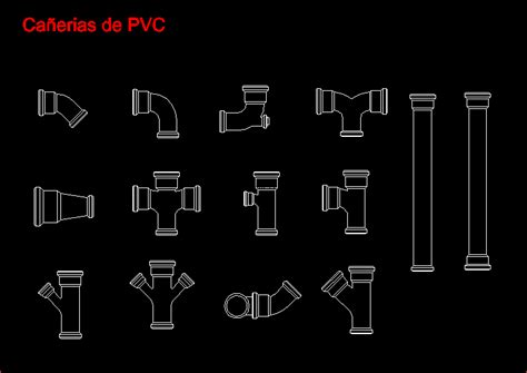 pvc pipes 2d dwg block for autocad designs cad