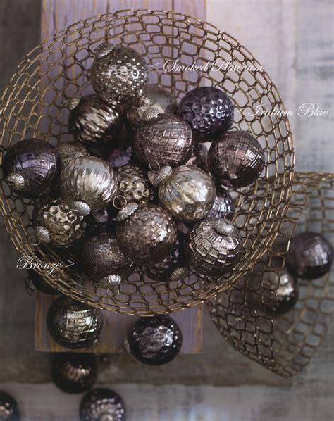 mercury glass ball ornaments christmas tree ornament set