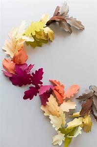 Diy, Paper, Leaf, Fall, Garland