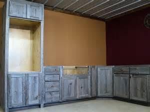 True Wood Cabinets weathered gray barn wood kitchen barn wood furniture