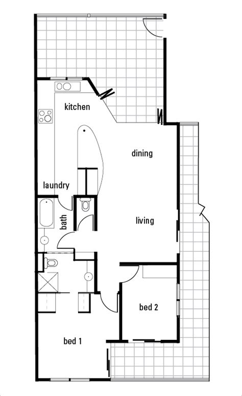 Bathroom Zone Map by The Floorplan Of A Home That Has An Open Plan Living