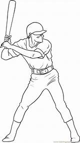 Baseball Player Coloring Draw Pages Printable Step Drawing Drawings Everfreecoloring Players Sports Nfl Football Indians Cleveland Softball Steps Pop Stadium sketch template
