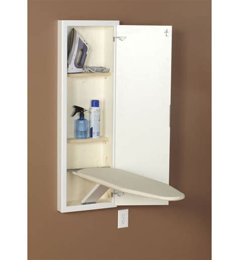 Iron Board Cupboard by In Wall Ironing Board And Cabinet White In Ironing Boards