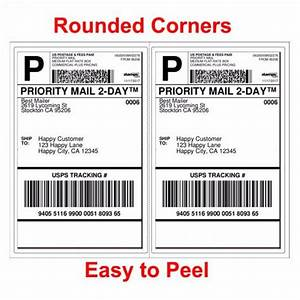 4000 shipping labels rounded corners 2 per sheet 85 x 11 With create shipping label without postage