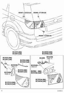Toyota Sienna Tail Light Socket  Left  Rear