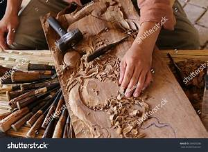 Hand Gouge Wood Chisel Carpenter Tool Stock Photo