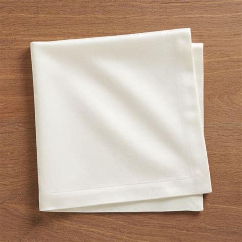 sateen ecru cloth dinner napkin crate  barrel