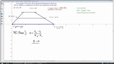 Midsegment Theorem For Trapezoid (geometry) Youtube