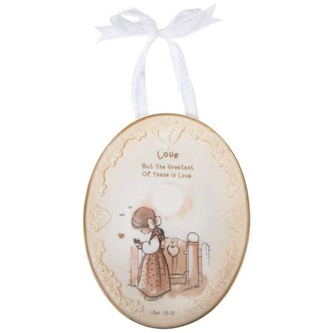Precious Moments Love Plaque With Ribbon Hanger