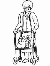 Coloring Pages Disabilities Crutches Cliparts Disabled Clipart Special Needs Walker Library Advertisement sketch template