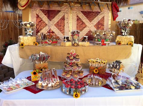 Western Candy Table Birthday Pinterest Candy Table